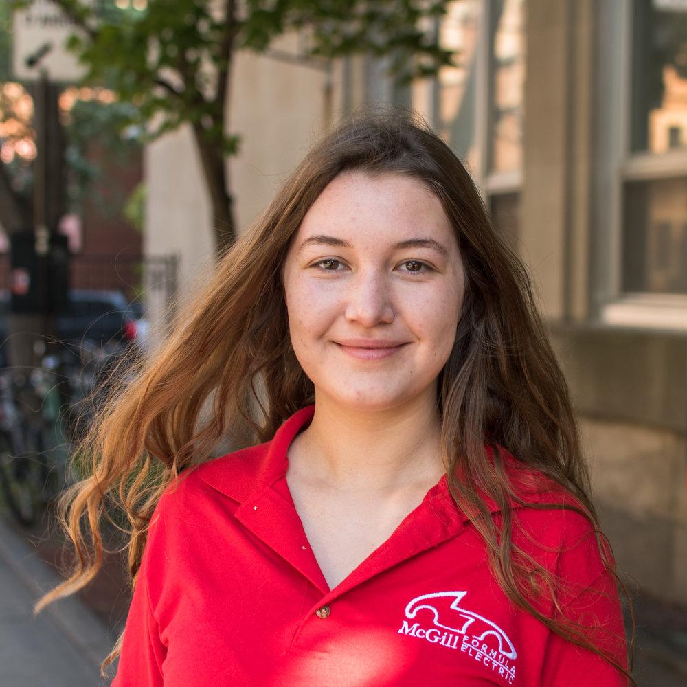 Sarah Jurchuk - DRIVETRAIN AND MOTOR LEAD