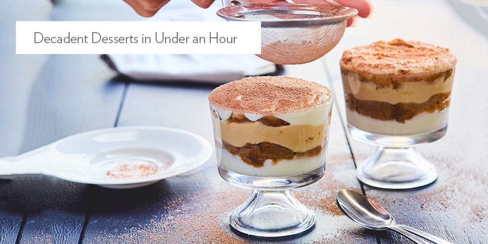 Decadent Desserts in Under an Hour
