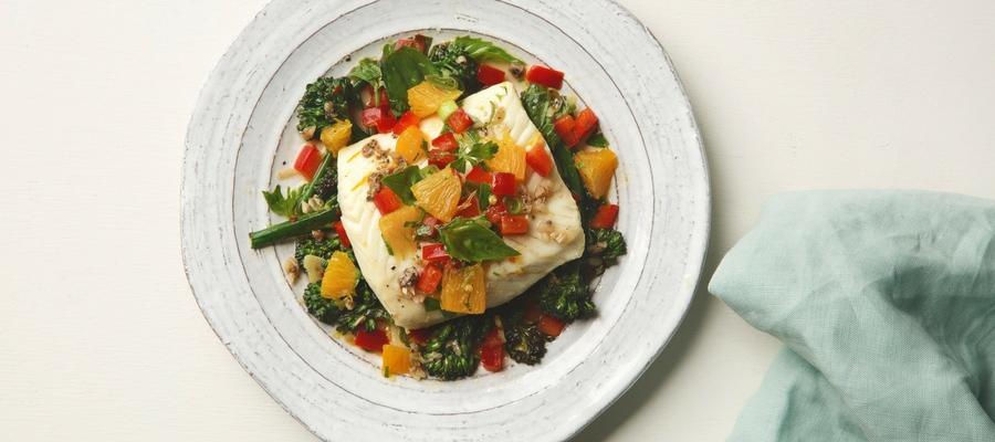 Mediterranean Citrus Poached Halibut—Fabio Viviani