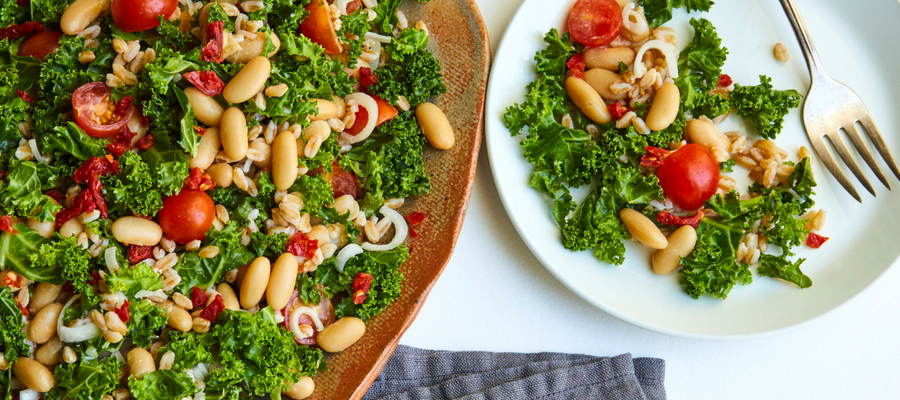 Kale, White Bean, and Farro Salad