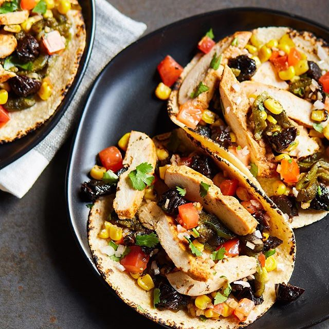 This twist on the classic Chicken Tacos explodes with sweet and savory flavors from the fresh California Prunes Salsa. 😋 Order your meal kit today, and you can experience these flavors on your next #TacoTuesday celebration! (Link in bio)