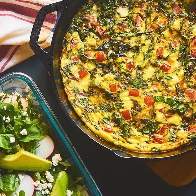 "Fresh, dense and hearty describes @ziggymarley's Frittata recipe. Perfect for breakfast, brunch or dinner, this dish is guaranteed a winner! Use promo code ""MARLEY15"" for 15% off our Marley Kitchen collection. #MarleyMonday ☀️🌴(Link in bio)"