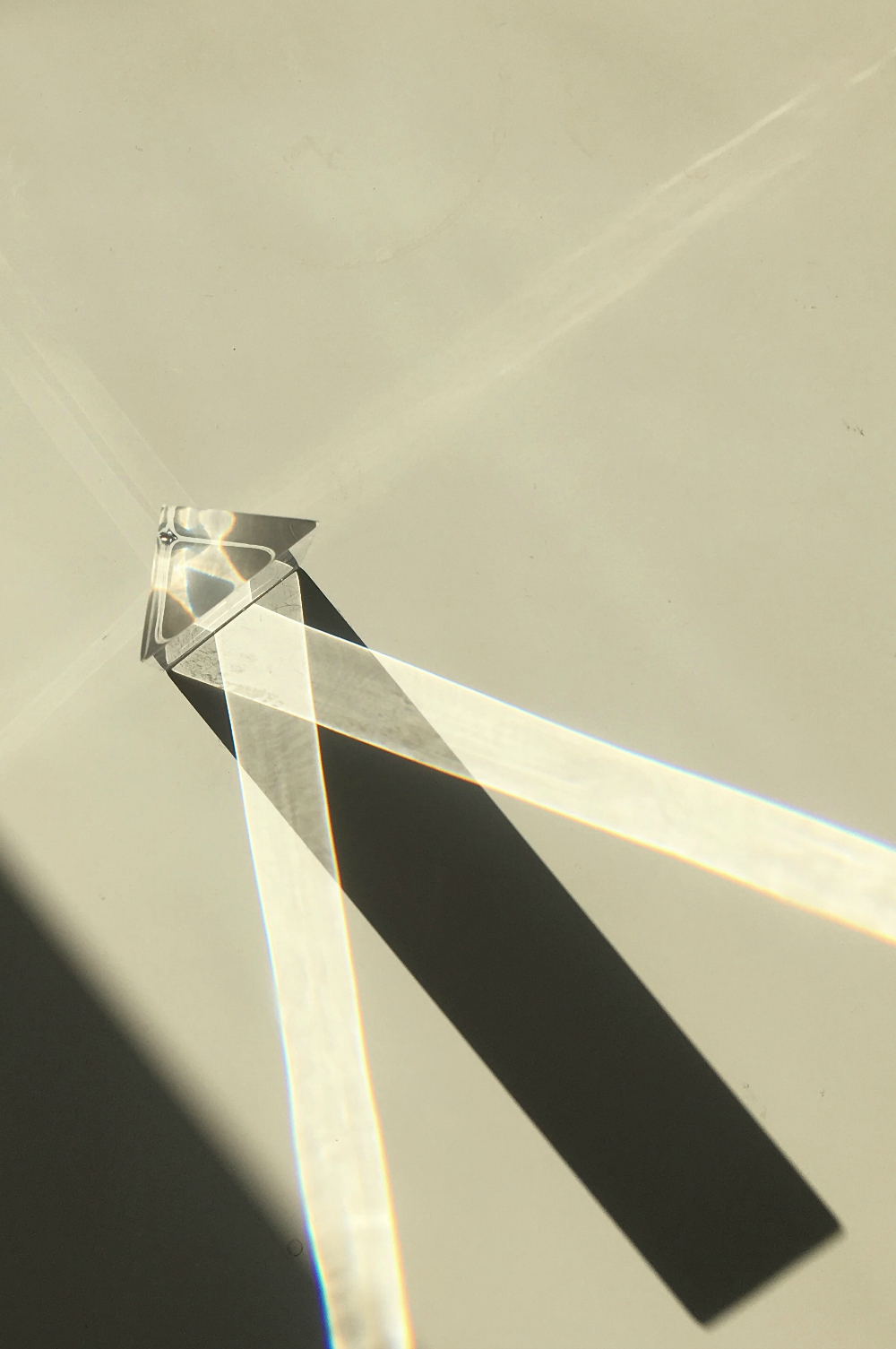 The perspex prism my son likes to play with and leave in random places. Impossible for me to ignore when the sun hits it.