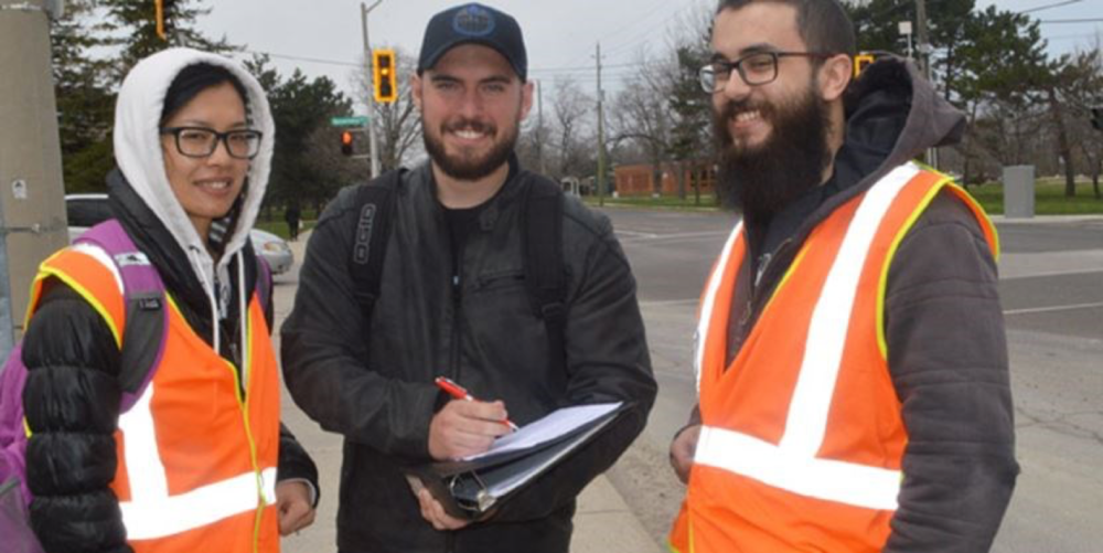 Mohawk students in the Rolston neighbourhood conducting traffic assessments via: click on image for link