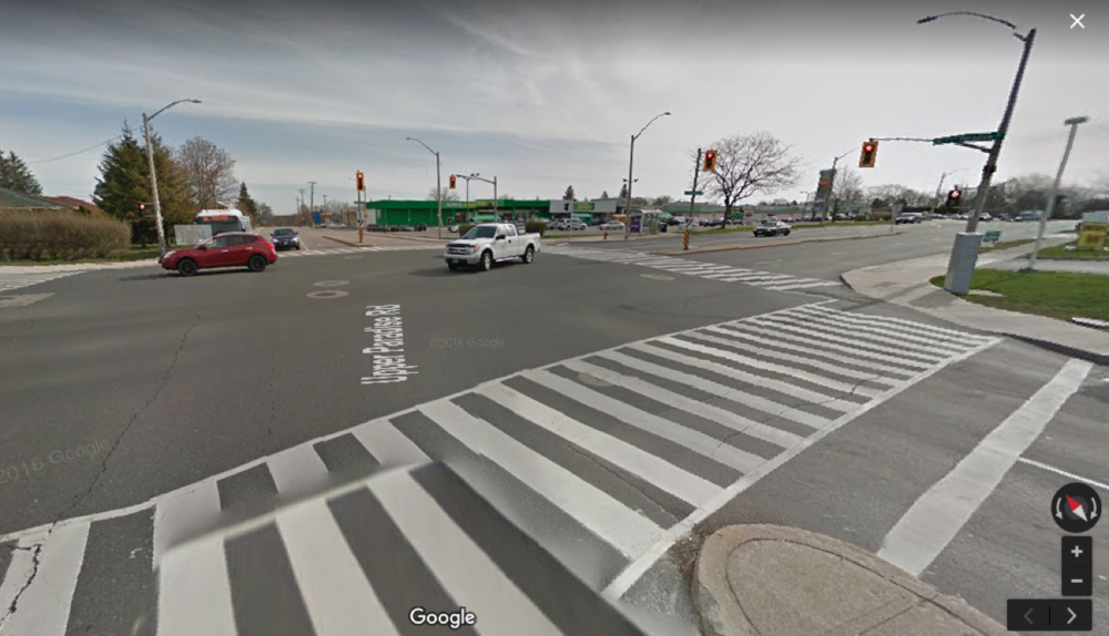 Google Street View at Mohawk and Upper Paradise Road