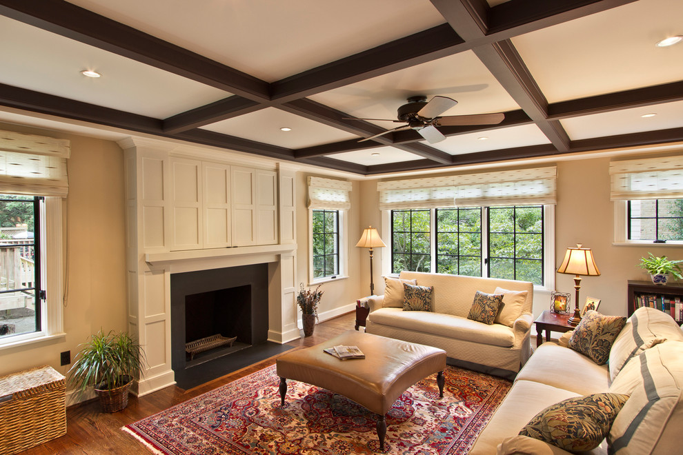 coffered-ceilings-fireplace-interior-design-walnut-trim-mouldings-millwork.jpg