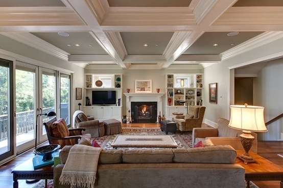 coffered-ceilings-interior-renovation-wood floors-built-ins-family-room.jpg