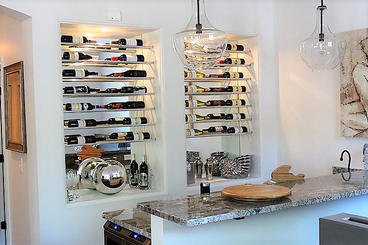 basement-remodel-bar-custom-wine-rack-fridge-granite-decor.jpg