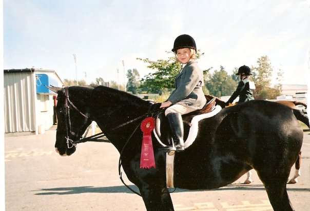 5y/o me at one of my first shows on an Arabian mare named Sam.