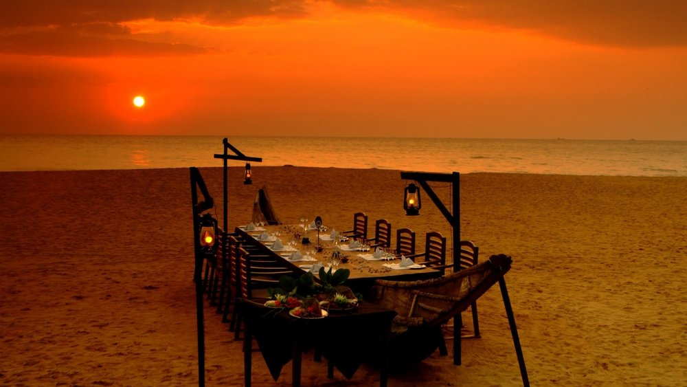 - New Years Eve dinner on the beach