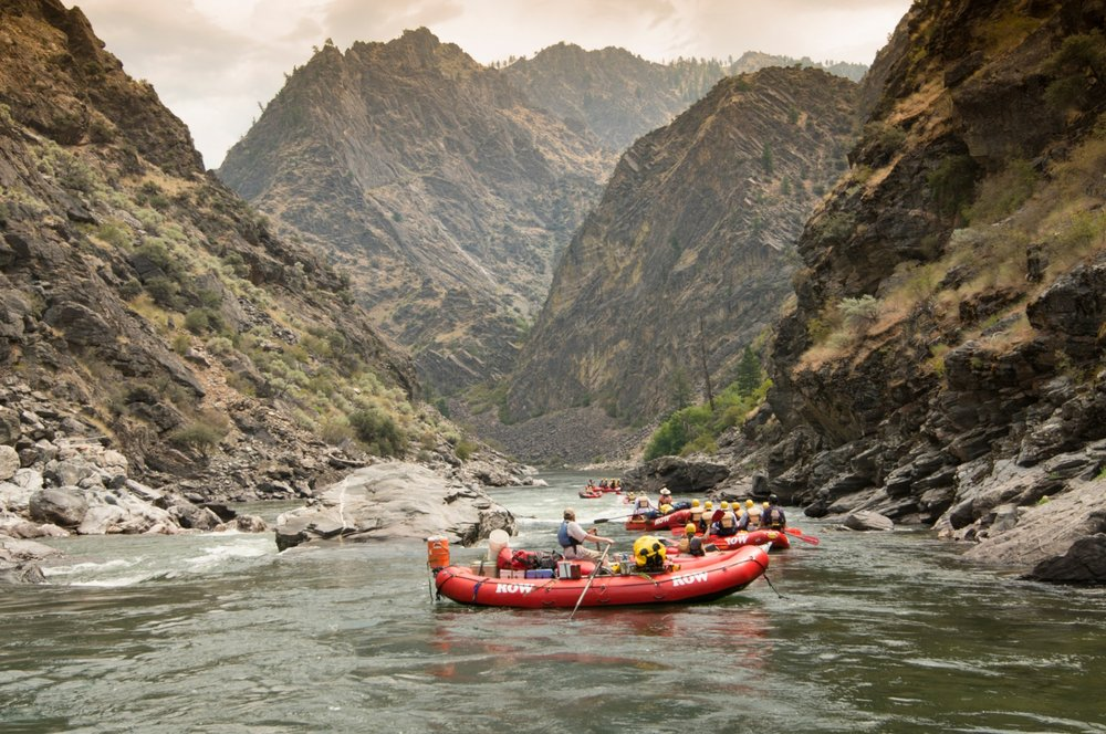 The Middle Fork of Idaho's Salmon River runs 104 miles through one of America's most beautiful National Wildernesses. It's also one of the most epic sections of whitewater, with class III to IV+ rapids.  -