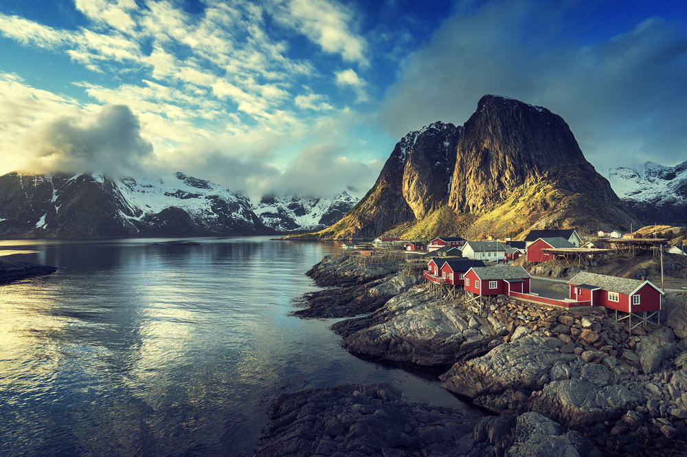 Tiny towns under big mountains. Being on a small boat gives the opportunity to tie up wherever we choose. -