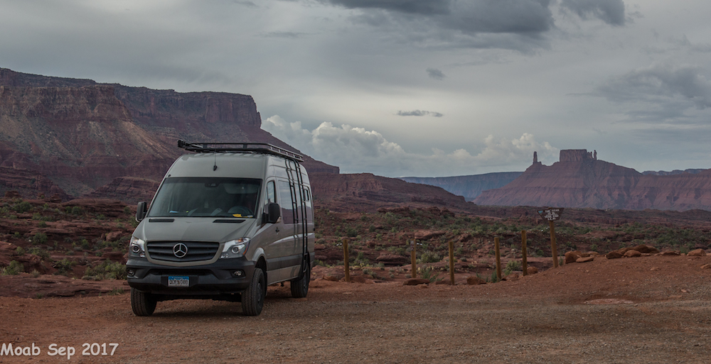 Explore the Southwest from the comfort of a fully loaded Sprinter van. -