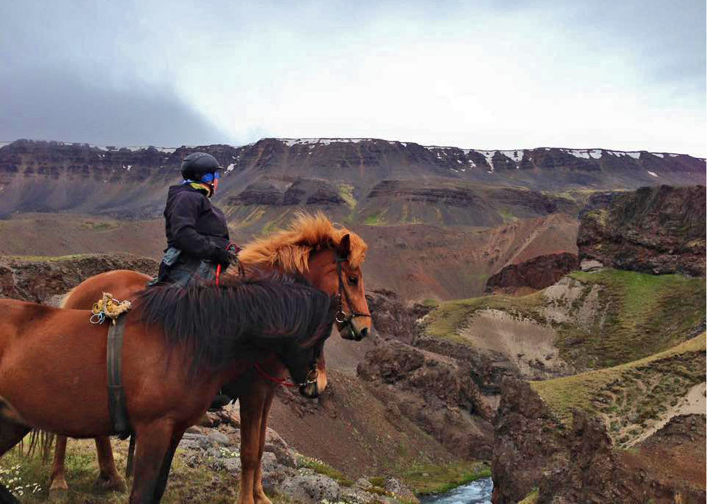 Befriend your two horses, switching each day throughout the ride. -