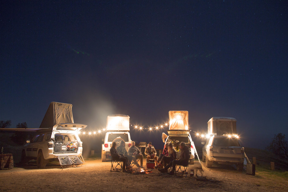 - A new campsite every night, complete with bonfire, delicious food, live music and epic hangs.