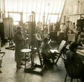 Gifford Beal painting class, 1938