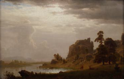 Albert Bierdstadt, On the Sweetwater near Devil's Gate
