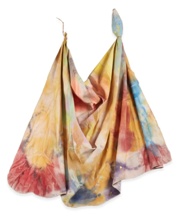 Sam Gilliam,  Idylls I  (1970) sold for $370,000 at Freeman's in Philadelphia last month. Photo by Thomas Clark, Courtesy Freeman's, Philadelphia.