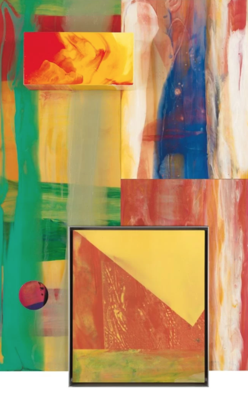 Sam Gilliam,  Not Spinning  (2001-04) The work sold on October 5 for $57,500 at Swann.