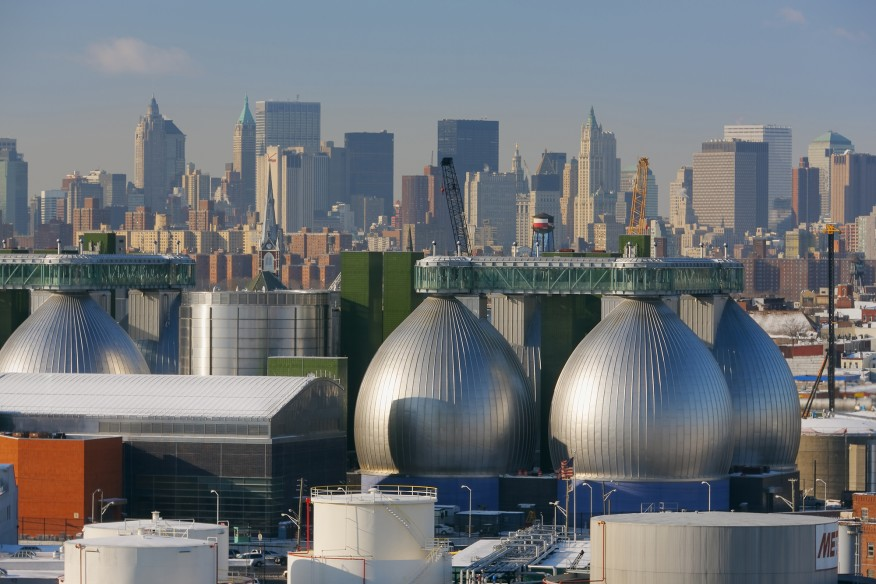 Newtown Creek Wastewater Treatment Plant, New York, completed 2017.