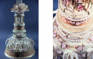 Images provided by the artist of the 5-foot-2-inch-tall cake sculpture she created in 1979 as part of MoMA's 50th anniversary