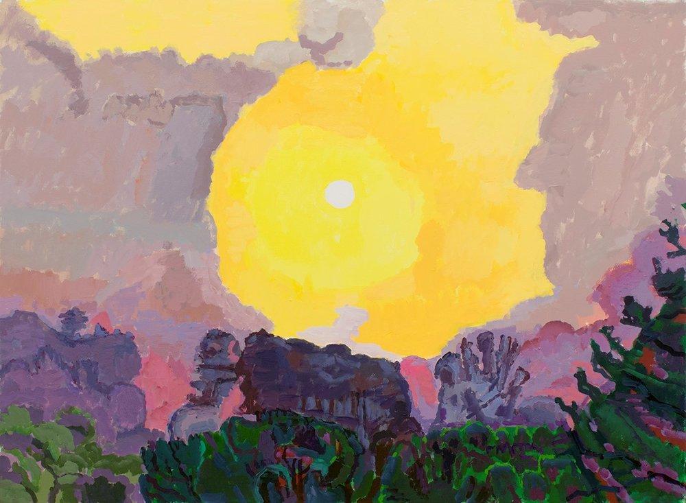 "Graham Nickson, NA, White Sun, 2015, Acrylic on Canvas, 44"" x 60"", Courtesy of The William Louis-Dreyfus Foundation, Inc."