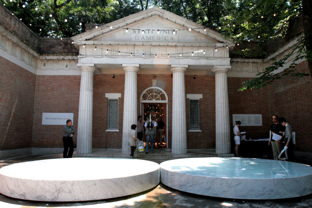 The US pavilion at the Venice Biennale. Photo by Elisabetta Villa/Getty Images.