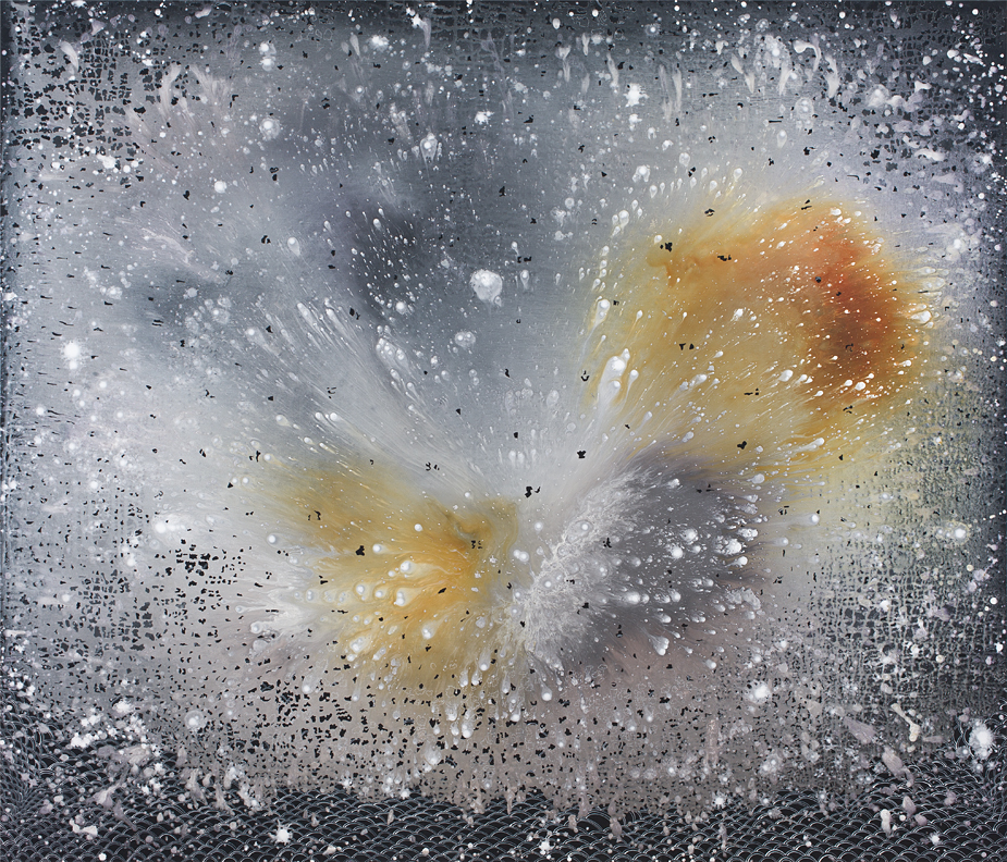 Barbara Takenaga, Rust Never Sleeps, 2018, acrylic on linen, 60 x 60 inches