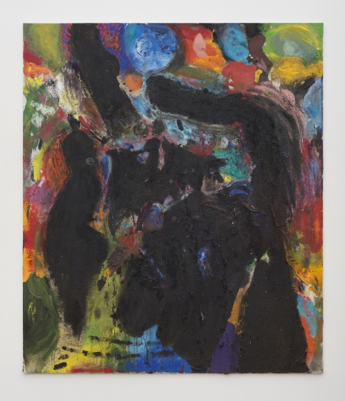 Jim Dine   The Blood Moon , 2015  Acrylic, sand and charcoal on canvas  96 x 72 inches  243.8 x 182.9 cm