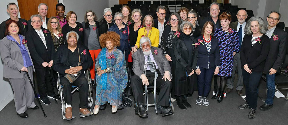 Back row, left to right: James Timberlake, Stephen Kieran, Njideka Akunyili Crosby, Margrit Lewczuk, Cora Cohen, Merrill Elam, Hermine Ford, Jane South, Patricia Cronin, Judy Glantzman, Fred Tomaselli, Jennifer Guthrie, Martha Diamond, Sarah Walker, Marlon Blackwell, Bruce Fowle (ANA 1991, NA 1994, PNAD 2011 - Present), and Don Porcaro    Front row, left to right: Kay WalkingStick, Jimmy Wright, Lisa Hoke, Peter Williams, Joyce J. Scott, James Wines, Petah Coyne, Judith Linhares, Deborah Luster, and Deborah Kass    Not pictured: Shimon Attie, Mel Chin, Dawn Clements, Angela Dufresne, Kathryn Gustafson, Byron Kim, Fumihiko Maki, Vik Muniz, and Shannon Nichol, and Hank Willis Thomas