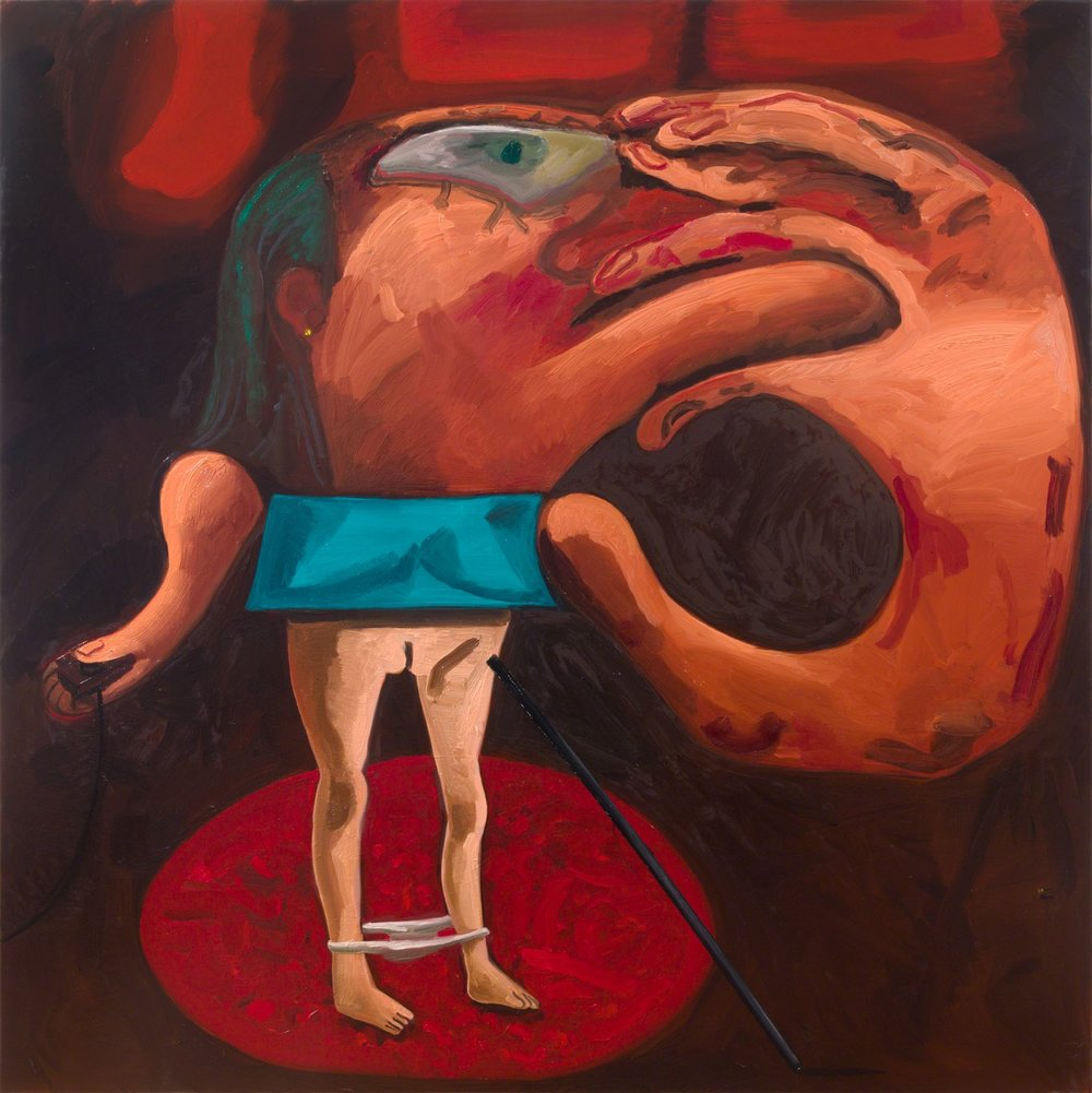Dana Schutz, NA,  Presenter,  2018 Oil on canvas, 88 x 88 inches