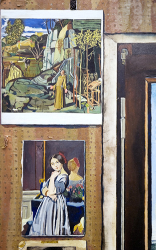Detail of Simon Dinnerstein's  The Fulbright Triptych , 1971–74.  COLLECTION OF THE PALMER MUSEUM OF ART, PENNSYLVANIA STATE UNIVERSITY