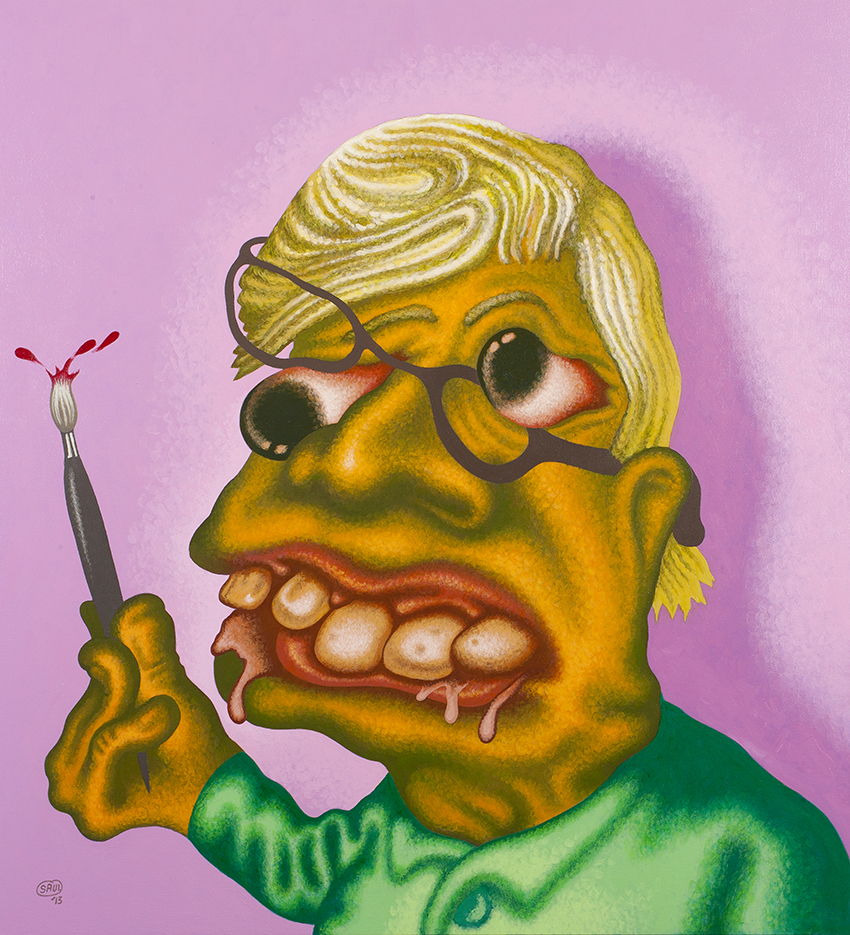 Peter Saul ,  Self-Portrait , 2013,  Acrylic on canvas, 60 × 55 × 1 3/4 in., National Academy of Design, New York