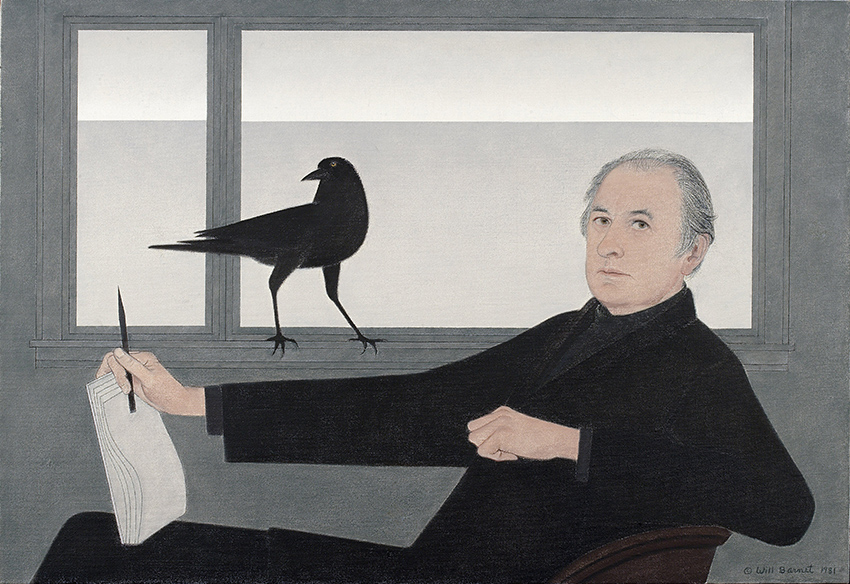Will Barnet ,  Self-Portrait , 1981 Oil on canvas, 31 ⅛ × 45 ½ in. National Academy of Design, New York