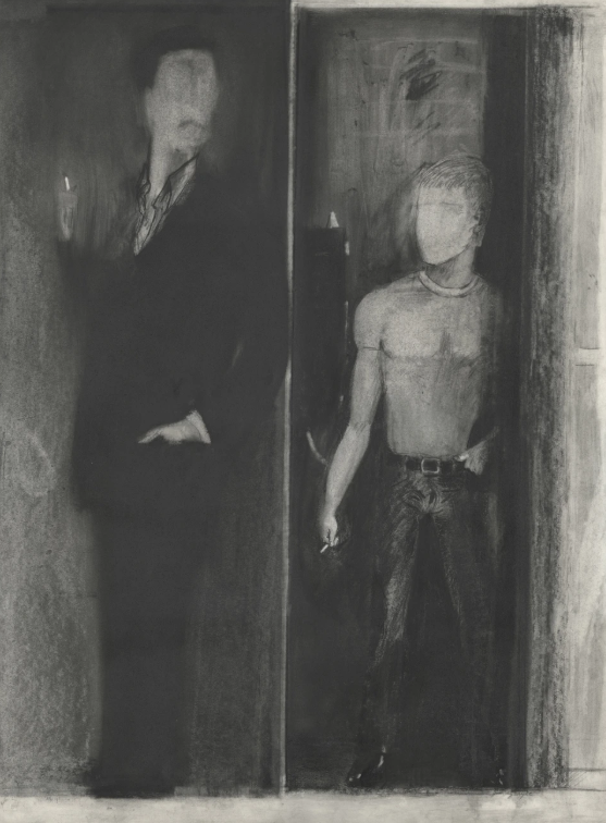 Jimmy Wright, NA,  Hustler , 1975 Graphite on paper 30 x 22 inches (76.2 x 55.9 cm)
