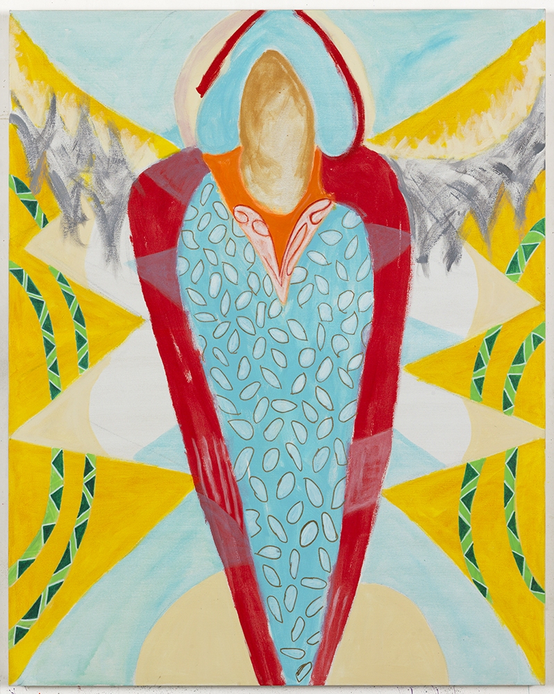 Margrit Lewczuk,  Angel , 2017, Acrylic on linen, 60 x 48 in., photograph by Brian Buckley.