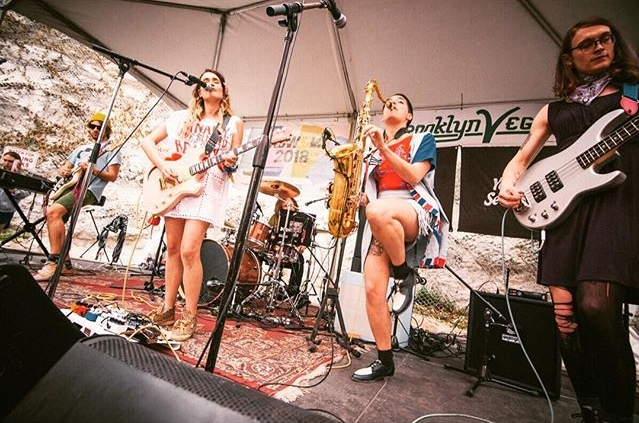 Speedy Ortiz, SXSW 2018, Brooklyn Vegan, Austin, TX. Photo by  Itsumi Okayasu