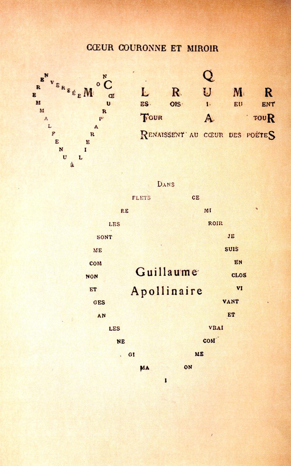 Figure 8   Ceur couronne et mir  Guillaume Apollinaire