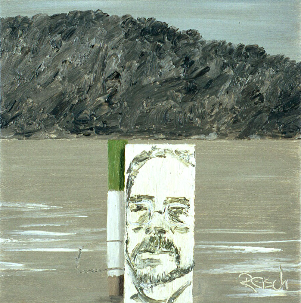 Fig. 1   Marker with portrait  -2000- oil on canvas 30x30cm