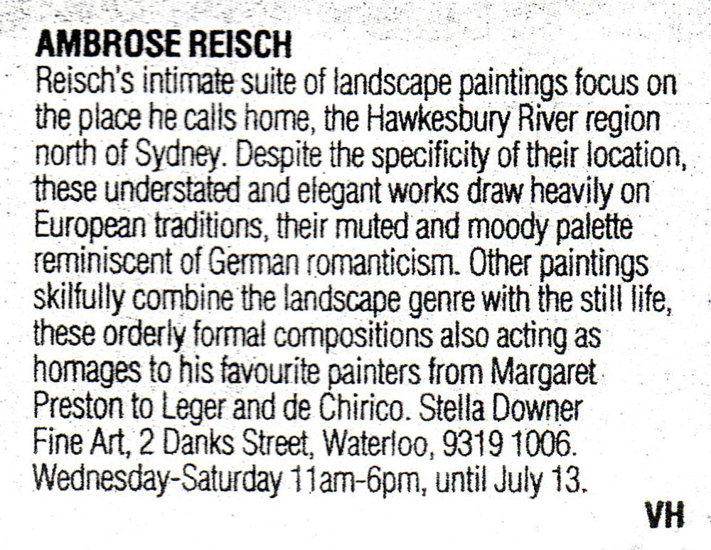 Sydney Morning Herald -EXHIBITIONS - 5 June 2002
