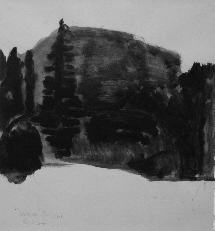 Peat Island  -2016-w/c-41x38cm