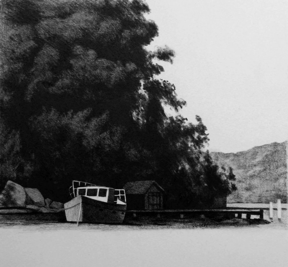 Dangar Island -2013-pencil/paper-42x35cm