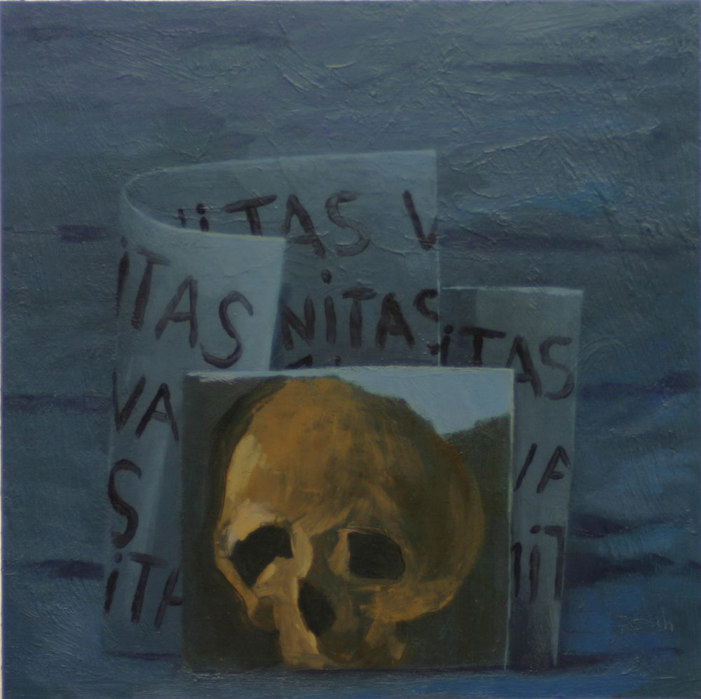 Vanitas  -oil on primed paper 30x30cm