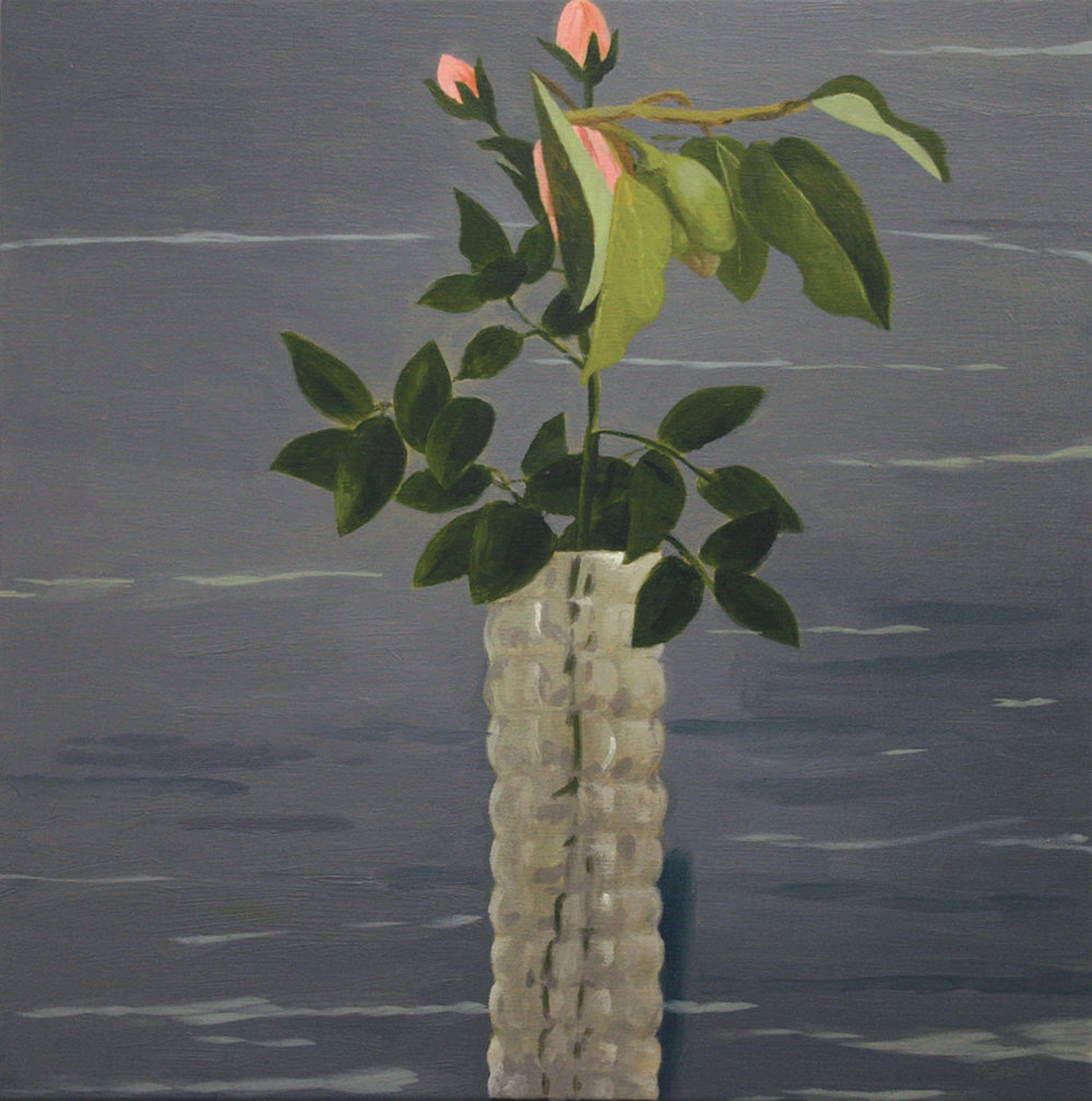 M  ottled vase  - oil on primed paper 30x30cm