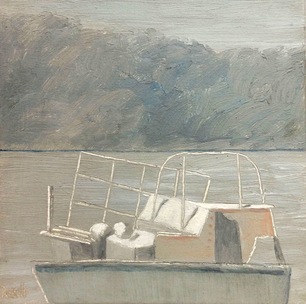 Workboat --oil on canvas -25x25cm
