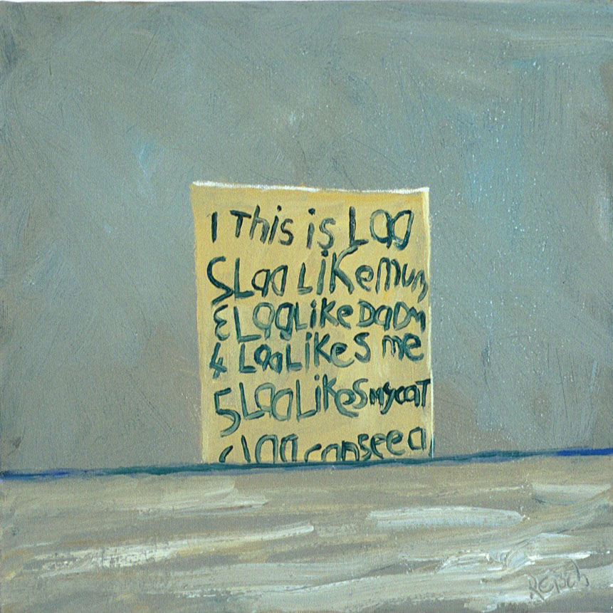 This is lad   -oil 2002 on canvas 30x30cm