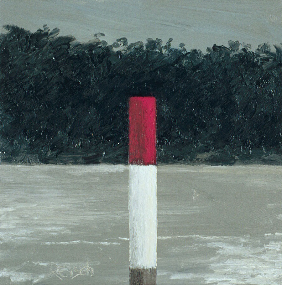 Red Marker 1   -2000 oil on canvas 30x30cm