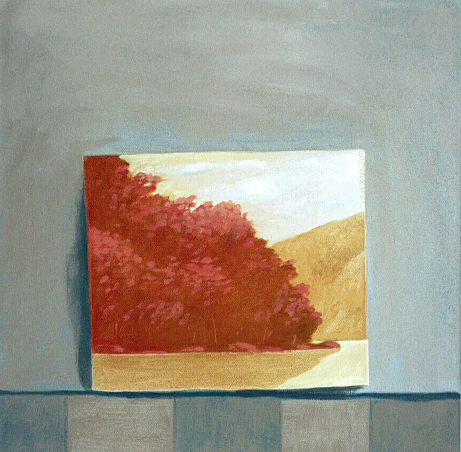 Red landscape-   2004 oil on canvas 30x30cm