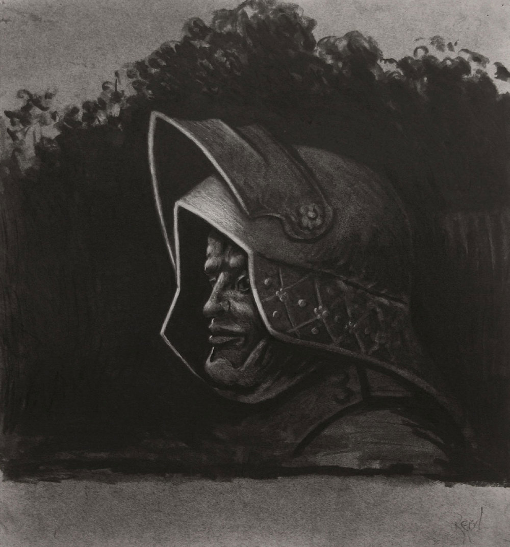 Knight-(after-Durer)- charcoal on paper-41x38cm.jpg