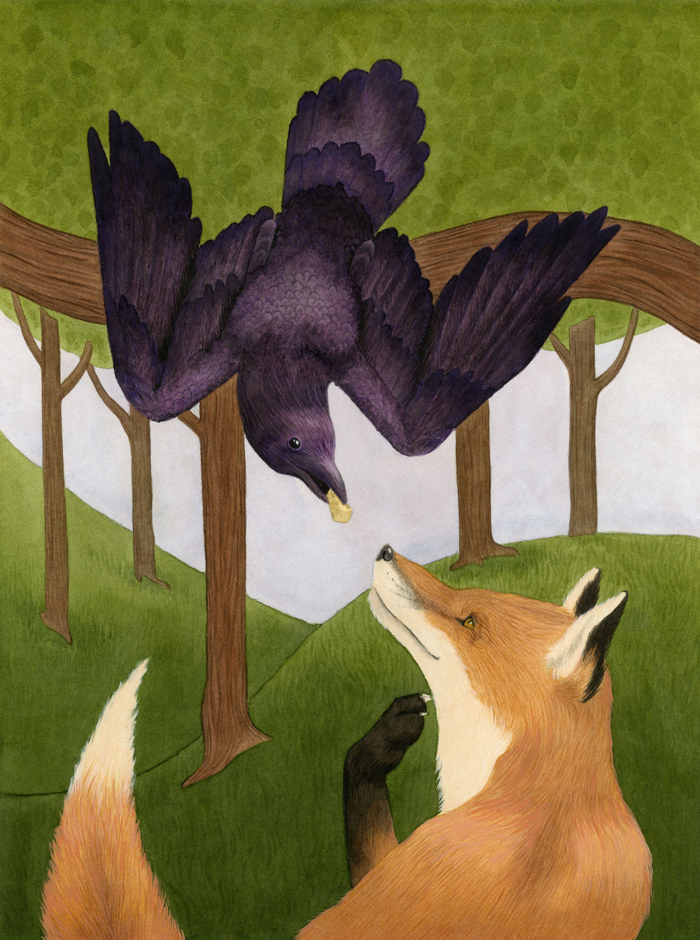 Aesop's Fables: The Fox and The Crow
